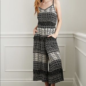 Forever21 Black and White Jumpsuit